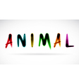 Animal character vector image
