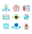 cartoon hand made product badges or labels set vector image