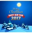Christmas Nature Landscape with Christmas Trees vector image