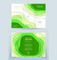 design of business brochure vector image
