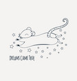 dreamy rat coloring page vector image