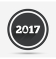 Happy new year 2017 sign icon Calendar date vector image