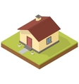 Isometric house icon vector image