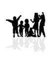 kids happy silhouette vector image