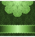 pattern in green background vector image