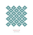 postcard japanese kogin embroidery style vector image