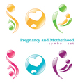 pregnancy and motherhood symbols vector image