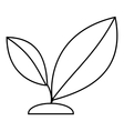 Sprout icon outline style vector image