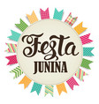 Festa junina sun vector image