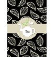 Tea package label vector image vector image