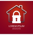 House lock icon vector image vector image