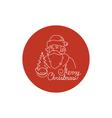 Linear Icon of a Santa Claus vector image