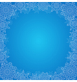Decorative Christmas frame vector image vector image