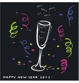 New year toast 2013 vector image