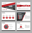 Red triangle Abstract presentation templates vector image