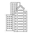 residential or office buildings icon vector image