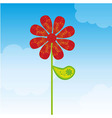 flower with ornaments vector image