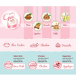 food theme for web template vector image