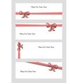 Hand Drown Bow Banners vector image