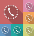 Icon of phone telephone Flat style vector image