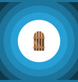 isolated gate flat icon wooden fence vector image