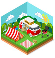 Isometric Picnic Summer Time vector image