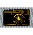 Luxury golden photo camera vector image
