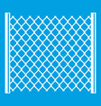 perforated gate icon white vector image