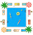 pool with blue water summer vacation concept vector image