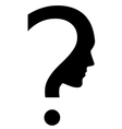 Question mark with face vector image