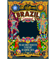 Rio Carnival Poster Theme Brazil Carnaval Mask vector image