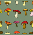 seamless pattern with mushrooms vector image