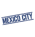 Mexico City blue square stamp vector image