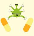 Antibiotics resistance ninja concept vector image