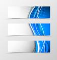 Set of header banner digital design vector image