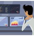 Modern Online Trading Technology vector image vector image