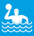 Water polo icon white vector image