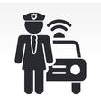 police girl icon vector image vector image