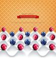 wave yogurt with berries vector image vector image