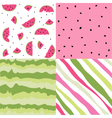 Seamless pattern watermelon set vector image vector image