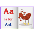 A picture of an ant in a book vector image