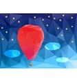 ballon at night poplygonal vector image