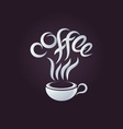 Coffee logo design template vector image