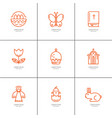 easter thin icons vector image