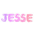jesse written famale name balloons vector image