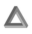 penrose triangle geometric optical vector image