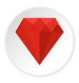 ruby icon circle vector image