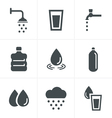 Water related Icons Set Design vector image