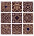 Arabic seamless floral pattern set for tile design vector image vector image