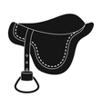 Saddle icon in black style isolated on white vector image